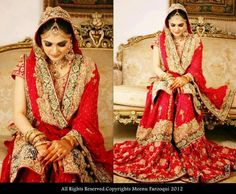 Red Bridal Gharara- because what's a Muslim bride without the quintessential gharara!