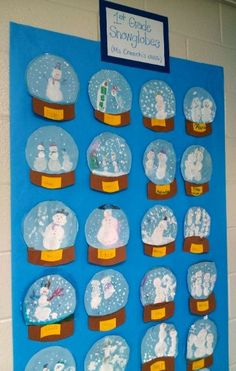 Snowglobe art  Fun to watch Knick Knack too then do writing activitiy:  Why does snowman want to escape?  How will he escape?