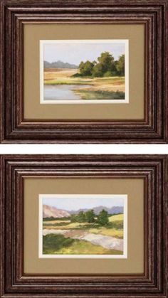 These are perfect sized landscape prints for that narrow space in your home where you don't know what to put there.