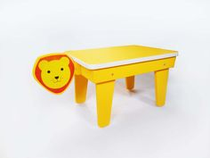 CocoMoco Kids Kuriouskid Lion study table  Who wants to to have the King of the Jungle as a pet?  It's not just a table - it's a friend in the jungle!