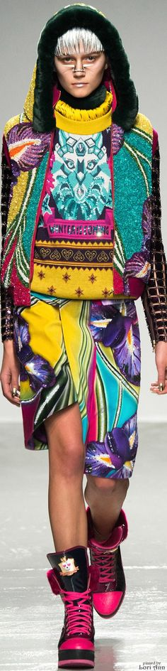 Color fashion Glam / Manish Arora Fall 2015 RTW