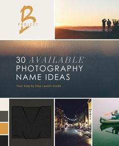 30 Available .com Photography Business Name Ideas