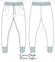 Best Loungewear Sewing Patterns For Tweens | Brassie Joggers by Greenstyle