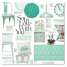 """""""Love Mint"""" by justlovedesign ❤ liked on Polyvore featuring interior, interiors, interior design, home, home decor, interior decorating, Pink Marmalade, Go Jump in the Lake, CB2 and Dot & Bo"""