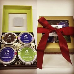 #Tea quartet with our #winterteas: #AppleStrudel #AlmondCake #SpicyChai #Glühwein beautifully wrapped in a #gift box. Perfect for #Thanksgiving! #ticoroasters #local #uniqueexperience #Campbell #SiliconValley  http://ift.tt/1MabBEi
