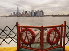 View Of New York From Staten Island Ferry by Dorothy Lee #photography #nyc #newyorkcity #newyork #homedecor #fineart #cities #cityscapes