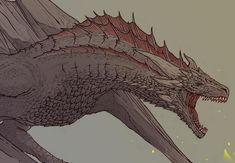 Game Of Thrones Dragons, Got Dragons, Got Game Of Thrones, Mother Of Dragons, Dragon Wolf, Dragon Art, Mythical Creatures Art, Weird Creatures, Httyd