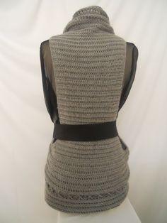 Crochet Vest Pattern-Circular Crochet Vest-Plus Size Clothing-Digital Download Pattern