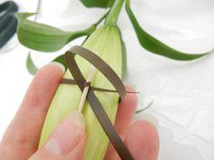 Loop the flax under the skewer