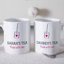 Personalised Set Of 2 Mugs Does it feel like it is always your turn to make tea? You should make some kind of rota to ensure no one shirks responsibility, but that does not sound very fun, does it?
