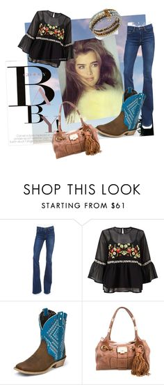 """""""Young Brooke Shields"""" by oudanne ❤ liked on Polyvore featuring Frame, Miss Selfridge, Justin Boots, Jimmy Choo, INC International Concepts, November, topsets and polyvoreeditorial"""