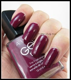 Avon gel nail polish reviews - Very Berry is from the Gel Finish Collection. This is a rich, deep purple. Gorgeous Avon nail polish colors. View all Avon gel finish nail polish at http://mbertsch.avonrepresentative.com/shop_product/49138