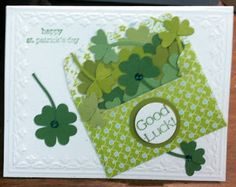 Happy St Patrick's Day card …The Good Luck is from Delightful Dozen.By:Kath…. Best Picture For Patrick day crafts For Your Taste You are looking for. Art Postal, Good Luck Cards, Happy St Patricks Day, Diy St Patricks Day Cards, Saint Patricks, St Paddys Day, Tampons, Card Tags, Creative Cards