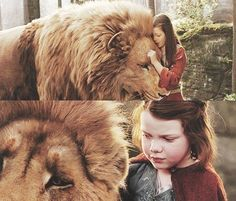 Aslan & Lucy-Chronicles of Narnia