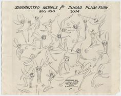 Original model sheets for the fairies from the Nutcracker Suite segment from Walt Disney's Fantasia. Cute Tattoos, Small Tattoos, Drawing Tips, Painting & Drawing, Fairy Sketch, Pixie Tattoo, Fairy Drawings, Fantasia Disney, Sugar Plum Fairy