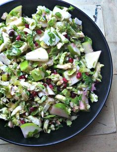 Shaved Brussels Sprout Salad with Apples and Pomegranate