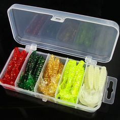 50PCS/Box 5cm fishing lure soft bait soft worm shrimp sea fishing tackle wobbler jigging silicone bait jerkbait