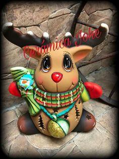 Christmas Moose, Christmas Tea, Christmas Couple, Merry Christmas, Xmas, Beaded Christmas Ornaments, Clay Ornaments, Christmas Decorations, Ceramic Painting