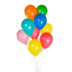 Rainbow Assorted Primary Latex Balloons | The Party Cupboard