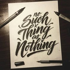 """""""Although there are some people who may benefit more than others, we are all exposed to the same resources..."""" New blog post! Link in bio or right here: jordancuellar.com/blog/2015/9/9/no-such-thing-as-nothing  Thank you for the time!  #jordancuellarblog #lettering #handlettering #handdrawntype #goodtype @goodtype #thedailytype #typedaily"""