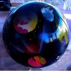 Space Painting Garden Gazing Balls