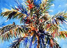 Pix For > Coconut Palm Tree Paintings