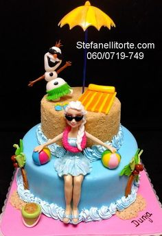 FROZEN CAKE - SUMMER TIME - For all your cake decorating supplies, please visit craftcompany.co.uk