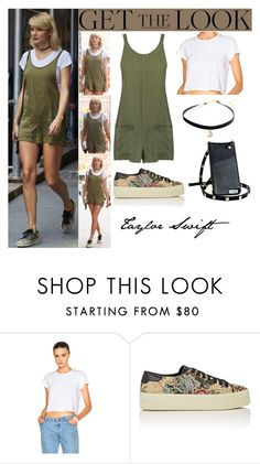 """""""Taylor Swift New York City August.31.2016"""" by valenlss ❤ liked on Polyvore featuring RE/DONE and Yves Saint Laurent"""