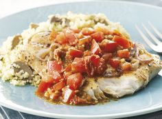 Tomato Pesto Fish With Cavalier Couscous Recipe from #PublixAprons