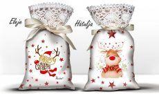 Karácsonyi álom zsák levendulával, mosolygó szarvas