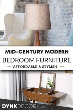 Check out these fantastic ideas for mid century modern bedroom furniture! Perfect for your home, and easy on the wallet - you'll love them! Mid Century Modern Lamps, Mid Century Decor, Mid Century Modern Furniture, Bedroom Furniture Inspiration, Modern Bedroom Furniture, Mid Century Modern Bedroom, Mid Century Living Room, Niche Decor, Affordable Furniture