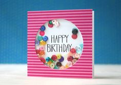 Something fun to do with sequins!!  Shaker card, by Laura Bassen