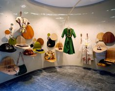 This Marni flagship in Milan is tucked away within a quiet courtyard off Via Della Spiga in the heart of Milan's luxury shopping district. Kids Store, Store Design, Hanging Chair, Marni, Old Things, Contemporary, Luxury, Projects, Inspiration