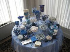 blue candy bar buffet | Recap – Jacki & Brad » Blue & White Candy Buffet
