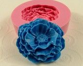 Cabbage Rose Flower Mold Flexible Silicone Mould  for Crafts Jewelry  soap mold resin mold  polymer clay (42mm) (215)
