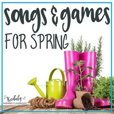 Songs for Spring: This 260+ page bundle is full of songs and activities that are perfect for Spring although many can be used all year round! It includes PDF's of the following: - Spring Beat Charts - 9 beat charts (heat beats, rain drops, umbrellas, frogs, bluebirds) - Rain Rain (PreK-1) slides for steady beat, rhythm icons, ta/ titi, sol-mi - Come Back Home My Little Chicks (PreK-2) - slides for this call and response song, sol-mi ...