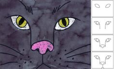 "Art Projects for Kids: Black Cat Face Halloween--This would be a cute craft to go with ""Scary, Scary Halloween""!"