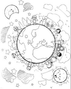 International Day for the Elimination of Racial Discrimination Coloring Pages - Preschool and Kindergarten