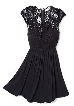 Cute lace little black dress