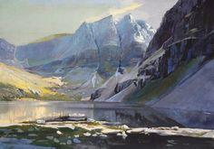"""Coire Mhic Fhearchair, Torridon watercolour, 21""""x 29.5"""" by Bob Rudd Sold"""