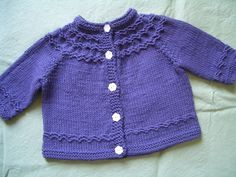 Free knitting pattern for Seamless Yoked Baby Sweater by Carole Barenys and more baby cardigan knitting patterns at http://intheloopknitting.com/free-baby-cardigan-sweater-knitting-patterns/