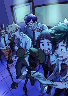 Friends In Love, Boku No Hero Academia, Fan Art, Wallpaper, Authors, Girlfriends, Anime, Heaven, Sky