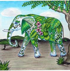 The First Colourings Have Started To Appear This Tropical Elephant Was Created By Marvellous Cant Wait Till August When Book Is Launched And I See