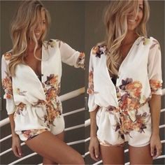 Women Ladies Clubwear V Neck Playsuit Bodycon Party Jumpsuit Romper Trousers in Clothing, Shoes & Accessories, Women, Women's Clothing, Jumpsuits & Rompers Fashion Mode, Look Fashion, Fashion Trends, Gothic Fashion, Ladies Fashion, Fashion News, Girl Fashion, Womens Fashion, Clubwear