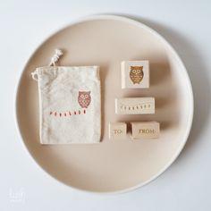Tiny Gift Owl Bag ~ using Lush Prints' Owl stamp set