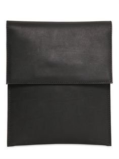 RICK OWENS - LEATHER IPAD CASE - LUISAVIAROMA - LUXURY SHOPPING WORLDWIDE SHIPPING - FLORENCE