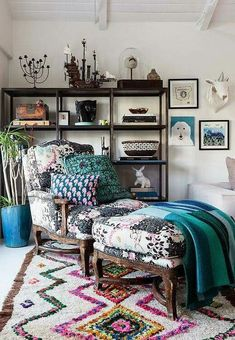 Boho Chic reupholstered Berger chair   Adore!
