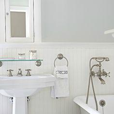 White Beadboard Bathroom, Cottage, Bathroom, Titan And Co Part 73