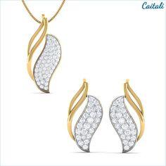 Delicate Pendant Earring Set - Caitali (elegant jewelry collection)