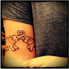 elephant love I may just need to get a second elephant tattoo Tattoo Girls, Cute Girl Tattoos, Weird Tattoos, Sister Tattoos, Tatoos, Girly Tattoos, Cutest Tattoos, Bff Tats, Dad Tattoos